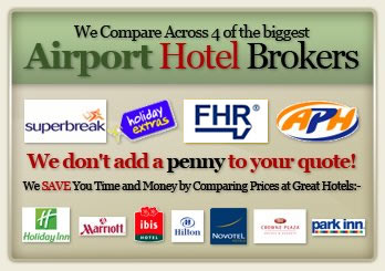 Compare Airport Hotels with Parking at 25 UK airports